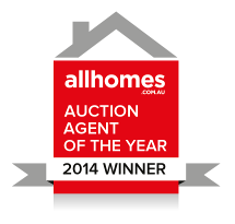 All Homes auction agent of the year winner award