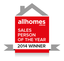 All Homes sales person of the year winner award